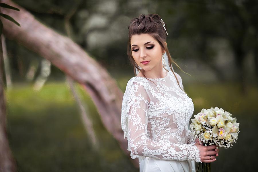 Пробный свад. макияж